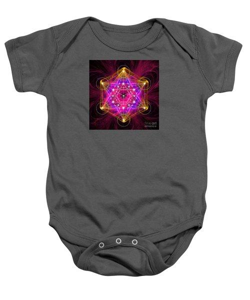 Metatron Cube  Baby Onesie