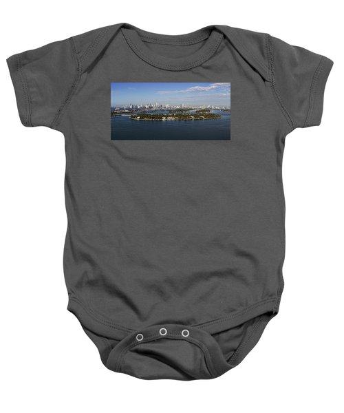 Miami And Star Island Skyline Baby Onesie