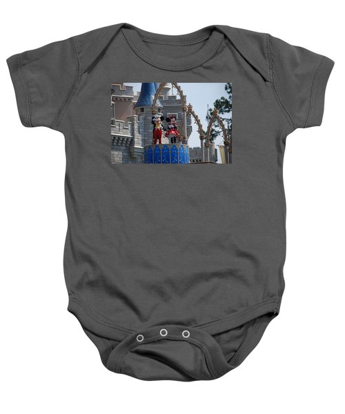 Mickey And Minnie In Living Color Baby Onesie