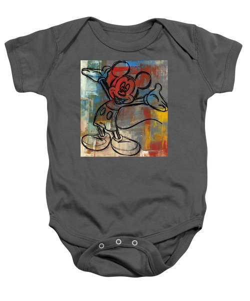 Mickey Mouse Sketchy Hello Baby Onesie