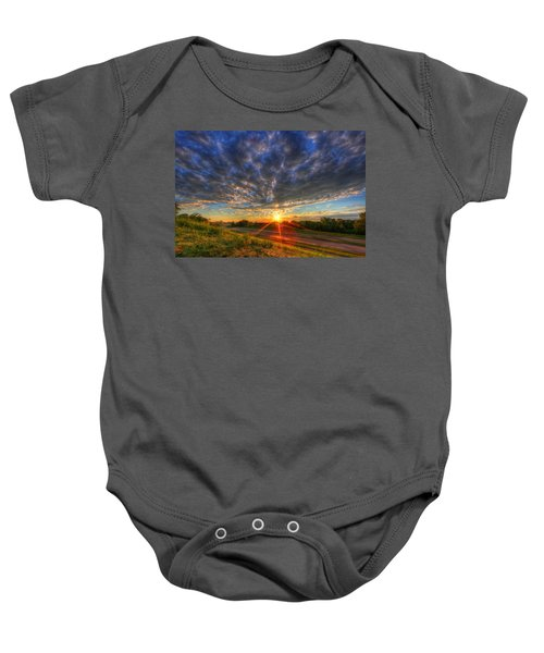 Midwest Sunset After A Storm Baby Onesie