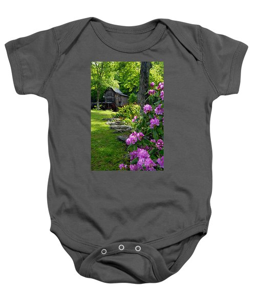 Mill And Rhododendrons Baby Onesie