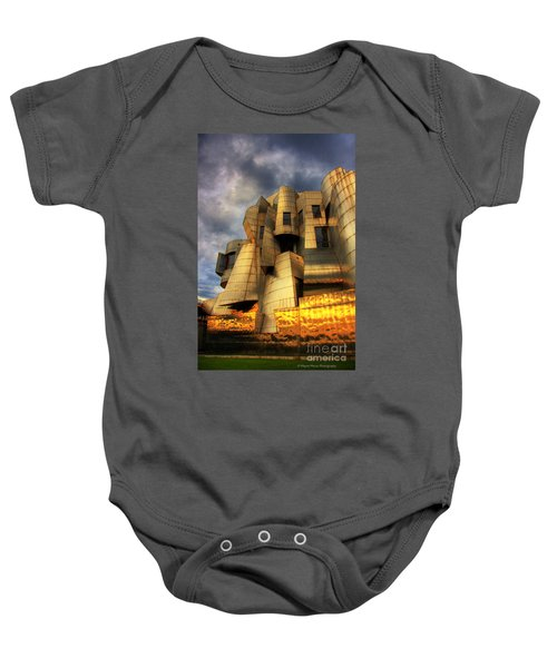 Minneapolis Skyline Photography Weisman Museum Baby Onesie by Wayne Moran