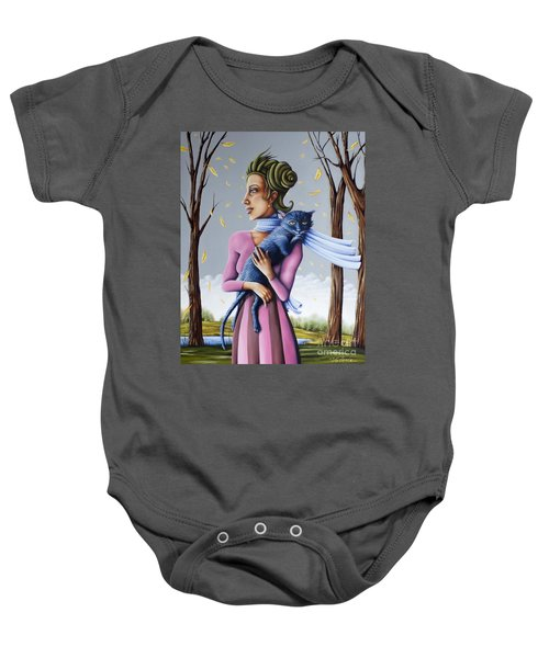 Miss Pinky's Outing Baby Onesie