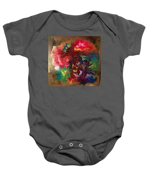 Mixed Media Abstract Post Modern Art By Alfredo Garcia Bizarre Baby Onesie