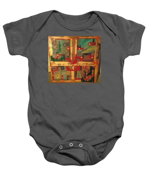 Mixed Media Abstract Post Modern Art By Alfredo Garcia The Blond Bombshell 3 Baby Onesie