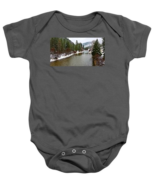 Montana Winter Baby Onesie