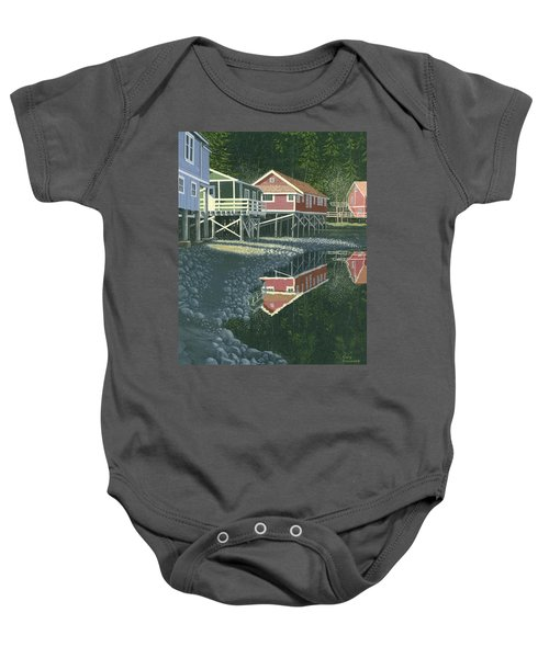Morning At Telegraph Cove Baby Onesie