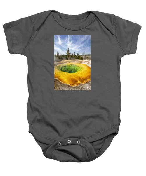 Morning Glory Pool In Yellowstone National Park Baby Onesie