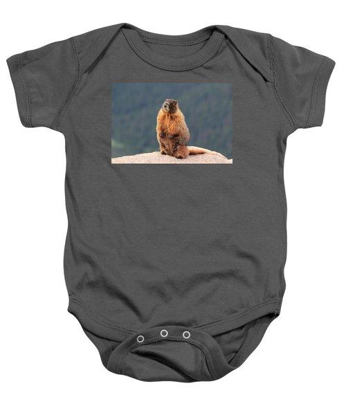 Mother Marmot Baby Onesie