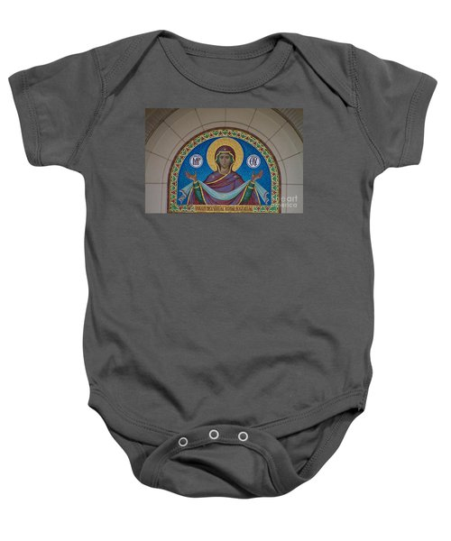 Mother Of God Mosaic Baby Onesie