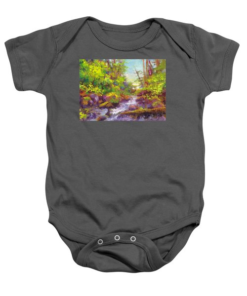 Mother's Day Oasis - Woodland River Baby Onesie
