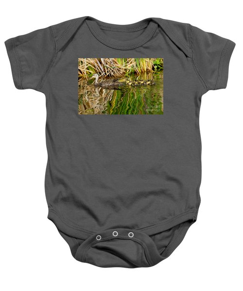 Mottled Duck And Young Baby Onesie