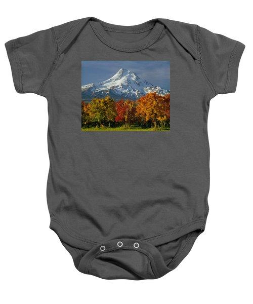 1m5117-mt. Hood In Autumn Baby Onesie