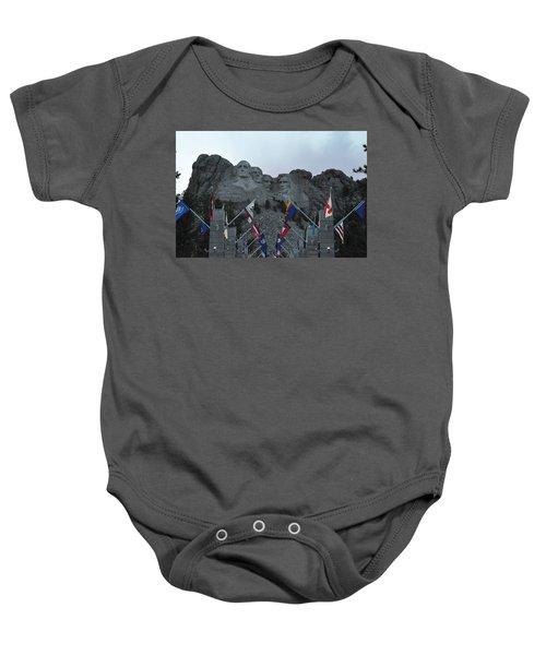 Mt. Rushmore In The Evening Baby Onesie