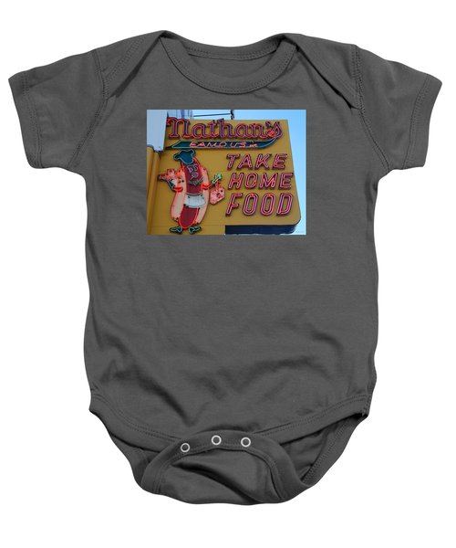 Nathan's Famous Baby Onesie