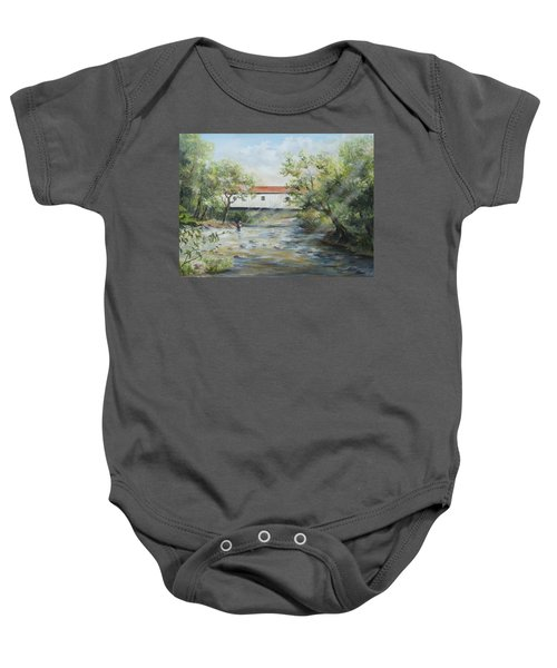 New Jersey's Last Covered Bridge Baby Onesie