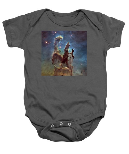 New Pillars Of Creation Hd Square Baby Onesie