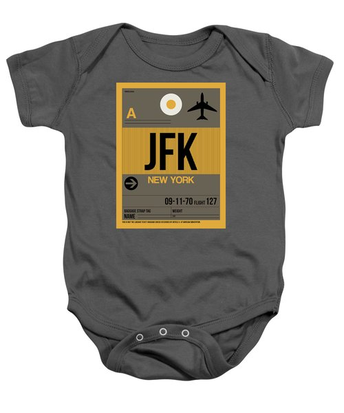 New York Luggage Tag Poster 3 Baby Onesie