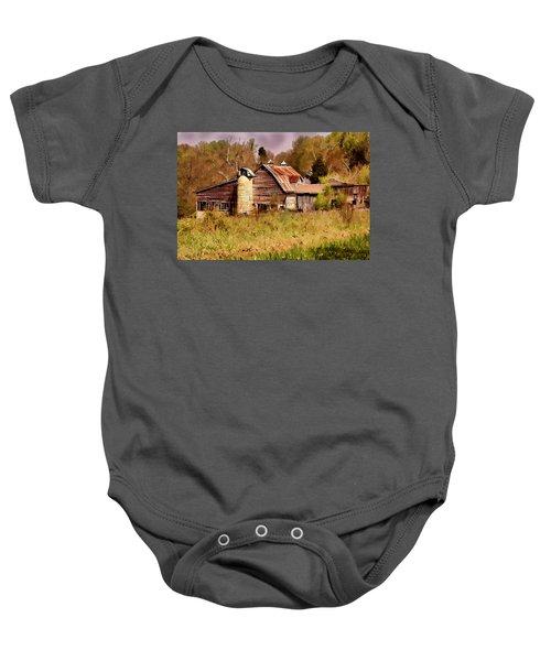 Newton Township Barn Baby Onesie