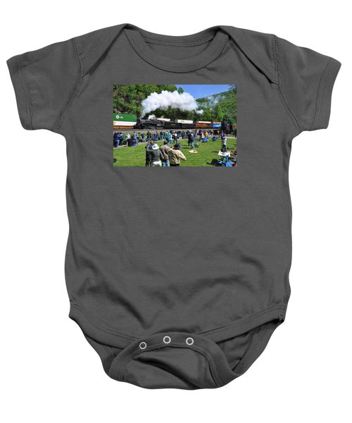 Nickel Plate Berkshire At Horseshoe Curve Baby Onesie