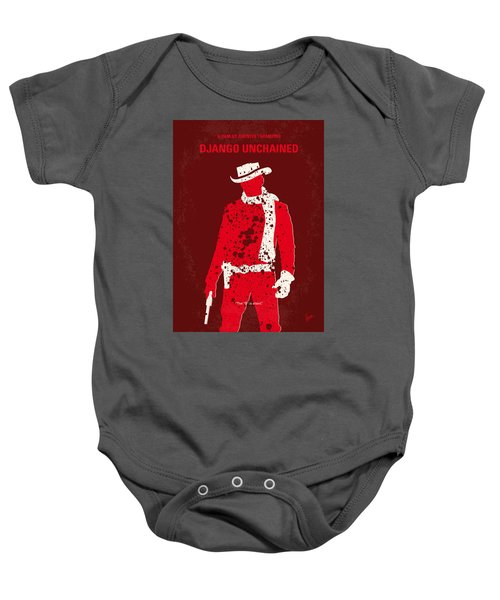 No184 My Django Unchained Minimal Movie Poster Baby Onesie