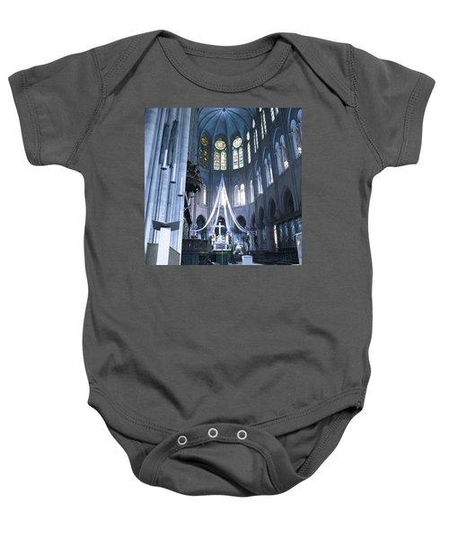 Notre Dame Altar Teal Paris France Baby Onesie