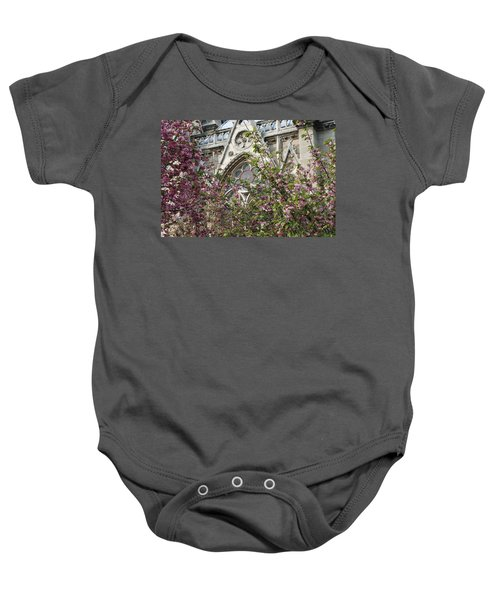 Baby Onesie featuring the photograph Notre Dame In April by Jennifer Ancker