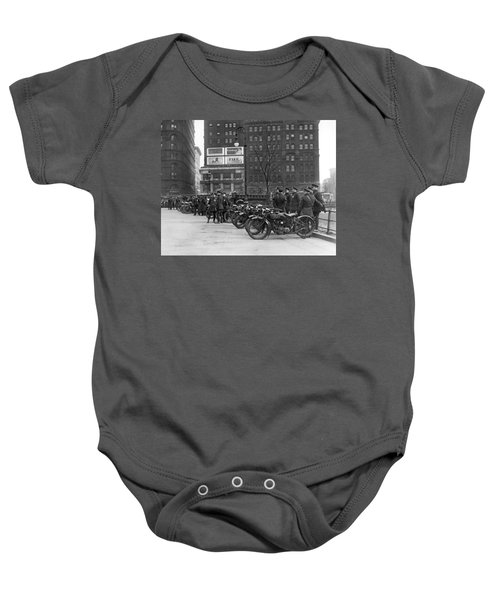 Ny Motorcycle Police Baby Onesie