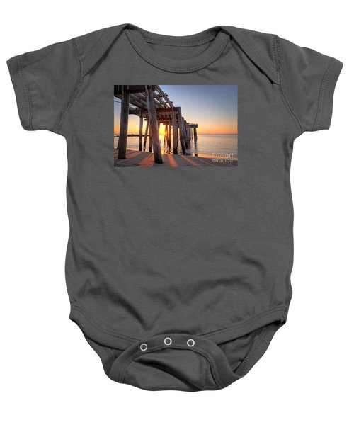 Ocean Grove Pier Sunrise Baby Onesie