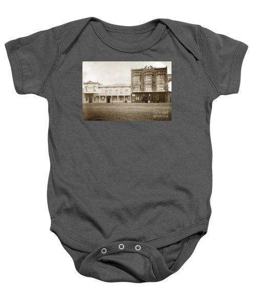 Old And New Salinas Hotel Was On West Market Street Circa 1885 Baby Onesie