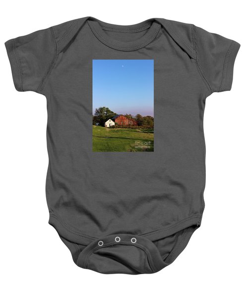 Old Barn At Sunset Baby Onesie
