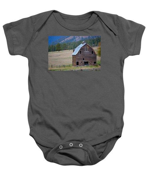 Old Barn In Washington Baby Onesie