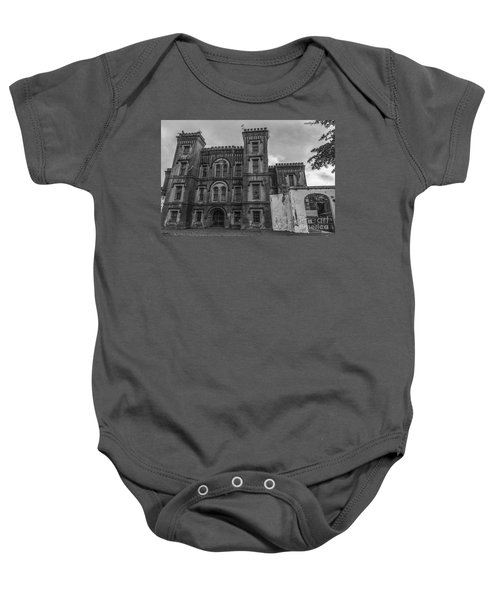 Old City Jail In Black And White Baby Onesie