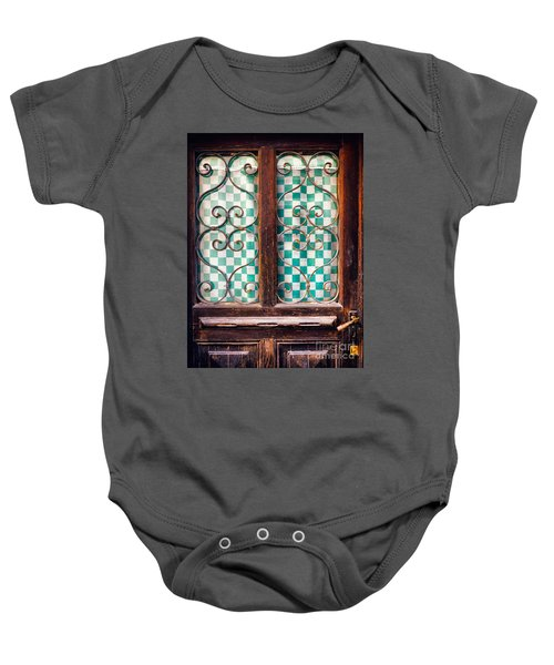 Baby Onesie featuring the photograph Old Door by Silvia Ganora