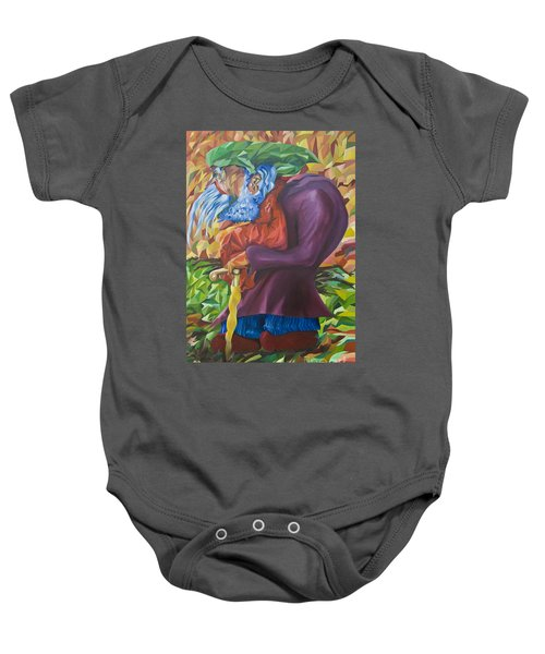Old Man Collecting Sticks - But Not On The Sabbath Baby Onesie
