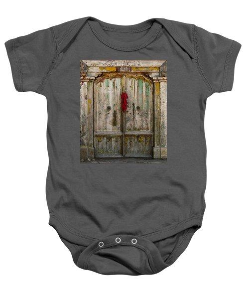 Old Ristra Door Baby Onesie