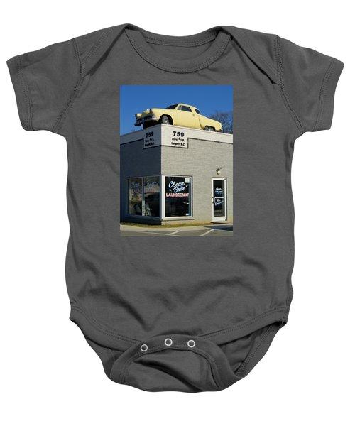 Old Studebaker Building Baby Onesie