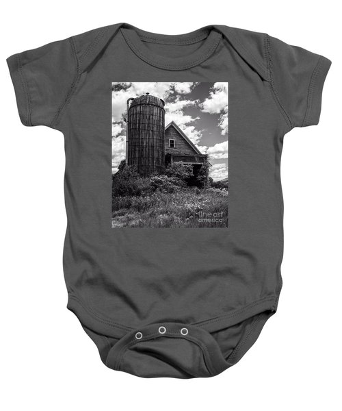 Old Vermont Barn And Silo Baby Onesie