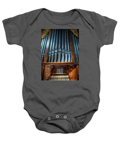 Olde Church Organ Baby Onesie