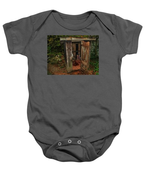 Operational Old Outhouse Baby Onesie