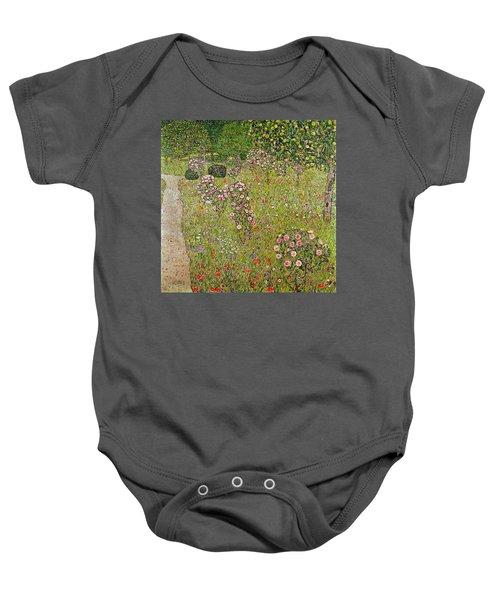 Orchard With Roses Obstgarten Mit Rosen Baby Onesie