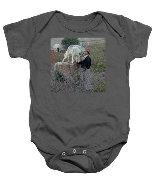 Out Of Africa  Friendly Wolves Baby Onesie