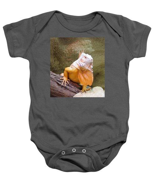 Out Of Africa Orange Lizard 1 Baby Onesie