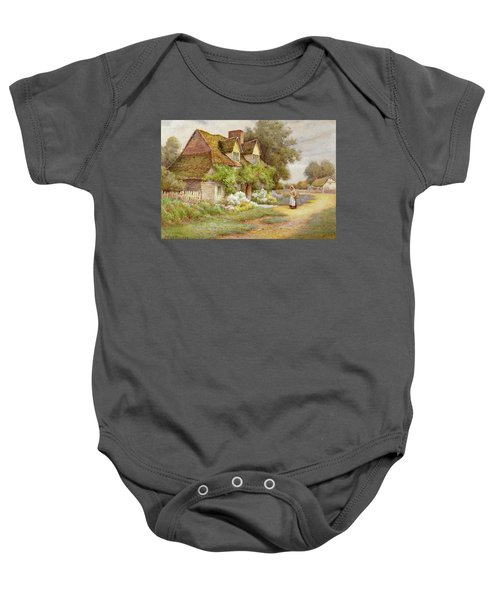 Outside The Cottage  Baby Onesie
