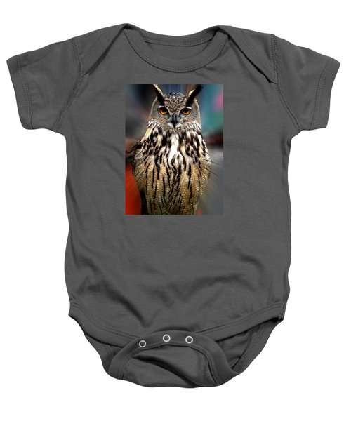 Owl Living In The Spanish Mountains Baby Onesie