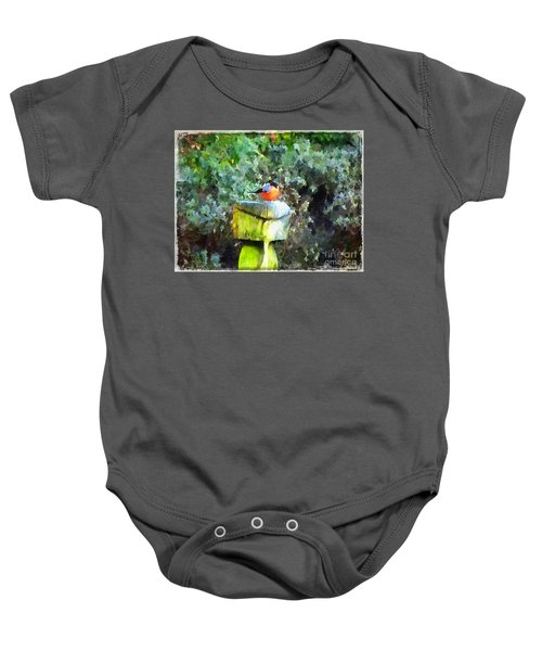 Painted Bullfinch S1 Baby Onesie
