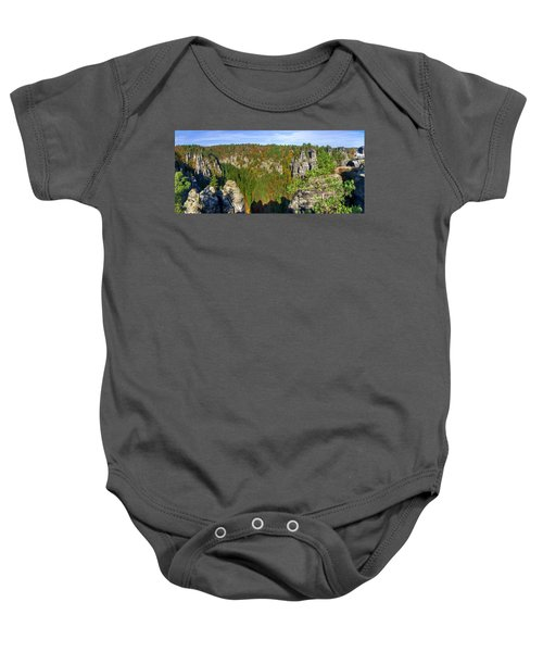 Panoramic View Of The Elbe Sandstone Mountains Baby Onesie