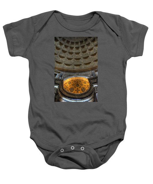 Pantheon Ceiling Detail Baby Onesie