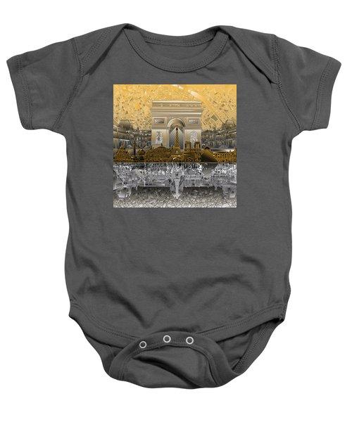 Paris Skyline Landmarks 5 Baby Onesie